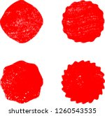 grunge post stamps collection ... | Shutterstock .eps vector #1260543535