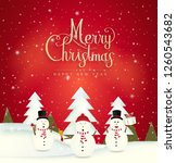 merry christmas and happy new... | Shutterstock .eps vector #1260543682