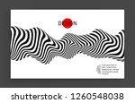 black and white design. pattern ... | Shutterstock .eps vector #1260548038