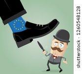 british man fighting against... | Shutterstock .eps vector #1260548128