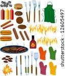bbq items vector illustration | Shutterstock .eps vector #12605497