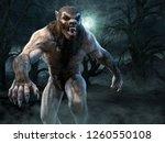 Werewolf Scene 3d Illustration