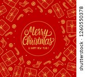 merry christmas greeting card... | Shutterstock . vector #1260550378