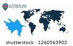 azerbaijan location on the... | Shutterstock .eps vector #1260563902