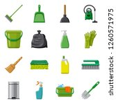bitmap illustration of cleaning ... | Shutterstock . vector #1260571975