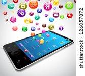 vector illustration of mobile... | Shutterstock .eps vector #126057872