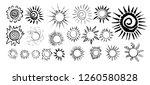 abstract stylized sun set.... | Shutterstock .eps vector #1260580828