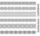 set of various ornamental...   Shutterstock . vector #126058442