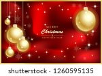 merry christmas and happy new... | Shutterstock .eps vector #1260595135