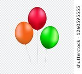 three colorful balloons on... | Shutterstock .eps vector #1260595555