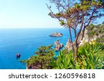 exotic sea view on corfu island ...   Shutterstock . vector #1260596818