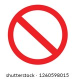 stop sign vector red icon. no... | Shutterstock .eps vector #1260598015