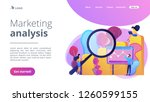 marketers with magnifier...   Shutterstock .eps vector #1260599155