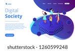 bloggers using mobile phones... | Shutterstock .eps vector #1260599248