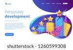 businessmen climb growth column ... | Shutterstock .eps vector #1260599308