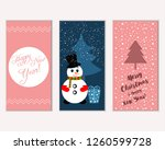 merry christmas and happy new... | Shutterstock .eps vector #1260599728