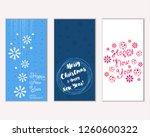 vector illustration of winter... | Shutterstock .eps vector #1260600322