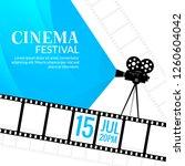 cinema festival poster template.... | Shutterstock .eps vector #1260604042