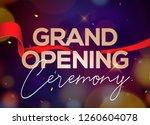 grand opening ceremony poster... | Shutterstock .eps vector #1260604078