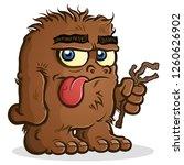 a bigfoot sasquatch cartoon...   Shutterstock .eps vector #1260626902
