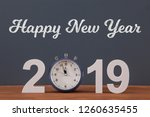 new year concepts countdown... | Shutterstock . vector #1260635455