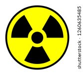 nuclear symbol vector isolated | Shutterstock .eps vector #1260635485