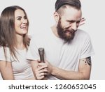 lifestyle and people concept ... | Shutterstock . vector #1260652045