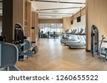 modern fitness center with gym... | Shutterstock . vector #1260655522
