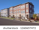 row of condominiums in a... | Shutterstock . vector #1260657472