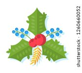 flat christmas illustration... | Shutterstock .eps vector #1260660052