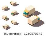 isometric 3d set small shipment ... | Shutterstock .eps vector #1260670342