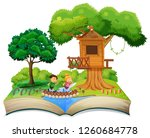 open book children in nature... | Shutterstock .eps vector #1260684778