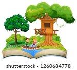 open book children in nature... | Shutterstock .eps vector #1260684778
