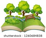 isolated open book nature theme ... | Shutterstock .eps vector #1260684838