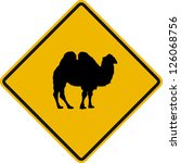traffic sign wildlife camel | Shutterstock .eps vector #126068756