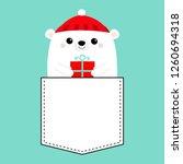 polar white bear cub face... | Shutterstock .eps vector #1260694318