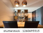 modern kitchen and dining table ... | Shutterstock . vector #1260695515