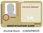abstract identification card... | Shutterstock .eps vector #1260698035