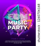 dj electronic music party... | Shutterstock .eps vector #1260706168