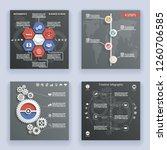 infographics elements symbols... | Shutterstock . vector #1260706585