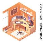 3d artist or cg artist home... | Shutterstock .eps vector #1260715315