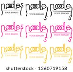 minimalistic noodle logo of the ... | Shutterstock .eps vector #1260719158