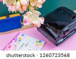 congratulatory gift image of... | Shutterstock . vector #1260723568