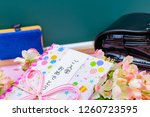 congratulatory gift image of... | Shutterstock . vector #1260723595