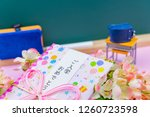 congratulatory gift image of... | Shutterstock . vector #1260723598