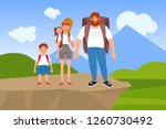 vector illustration of a happy... | Shutterstock .eps vector #1260730492