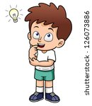 illustration of boy with a good ... | Shutterstock .eps vector #126073886