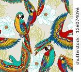 vintage  colorful background... | Shutterstock .eps vector #126074096