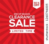 clearance sale design  big sale ... | Shutterstock .eps vector #1260746005