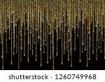 vector falling in lines gold... | Shutterstock .eps vector #1260749968